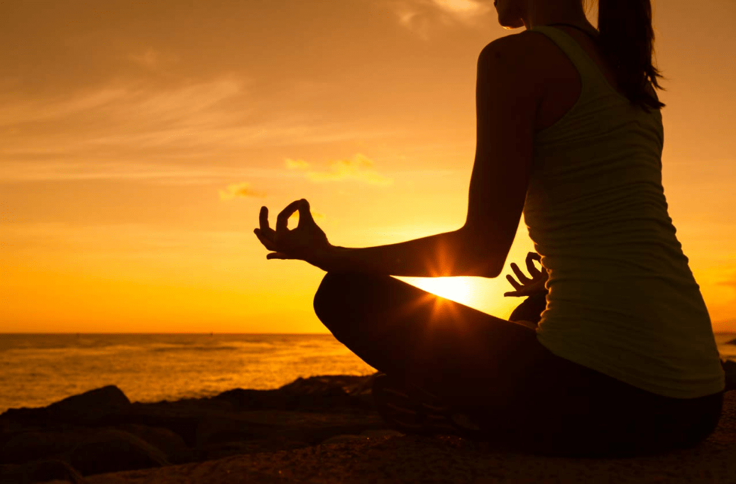 meditate for stress relief